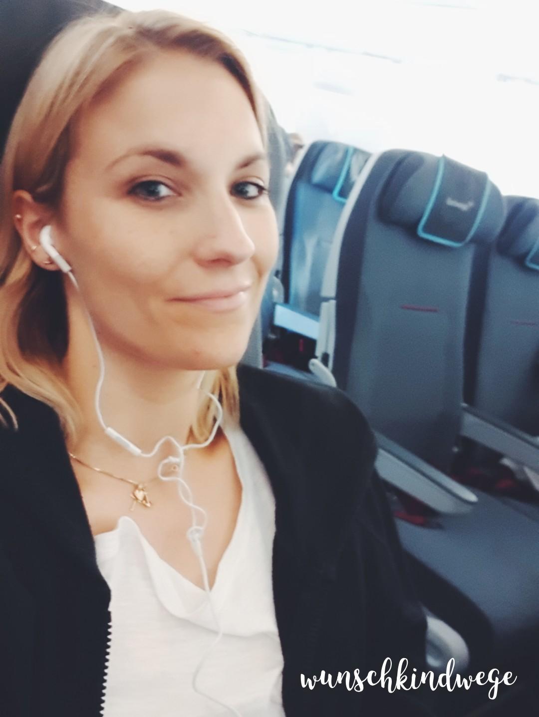 Selfie im Flugzeug