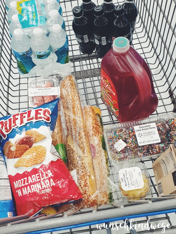 erster Einkauf bei Wal Mart in Florida