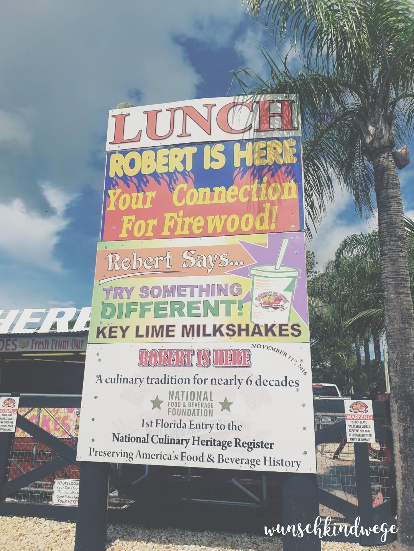 Robert is here - Weg auf die Florida Keys