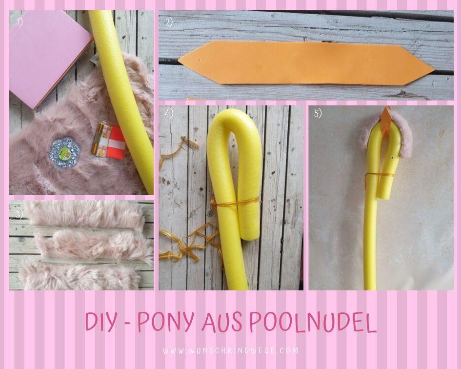 DIY - Pony aus Poolnudel für My little Pony Party
