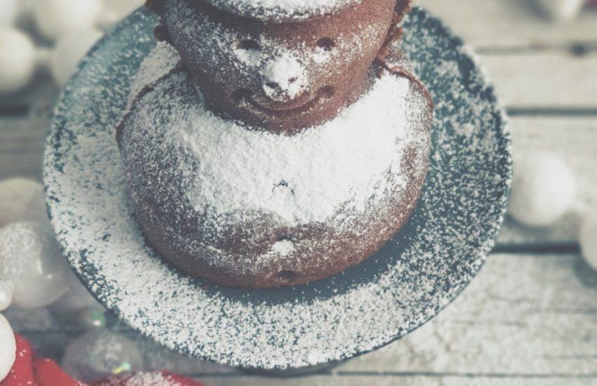 Schneemannkuchen