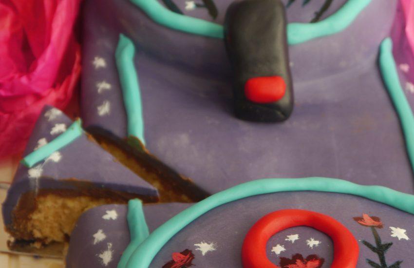 Schulranzen Torte Anschnitt