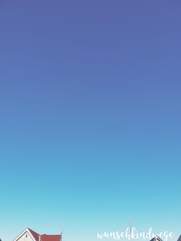 blauer Himmel ohne Flugzeug - Wochenende in Bildern