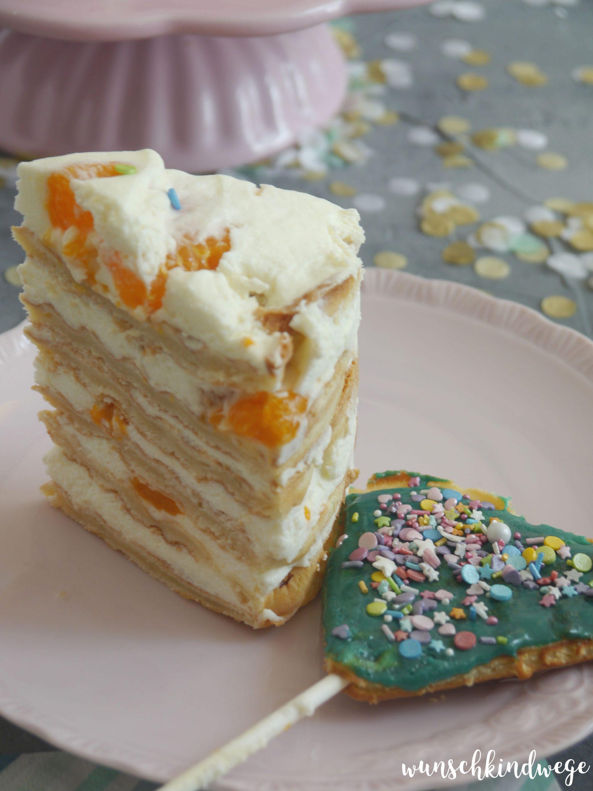 Waffeltorte Mandarinen Käse Sahne