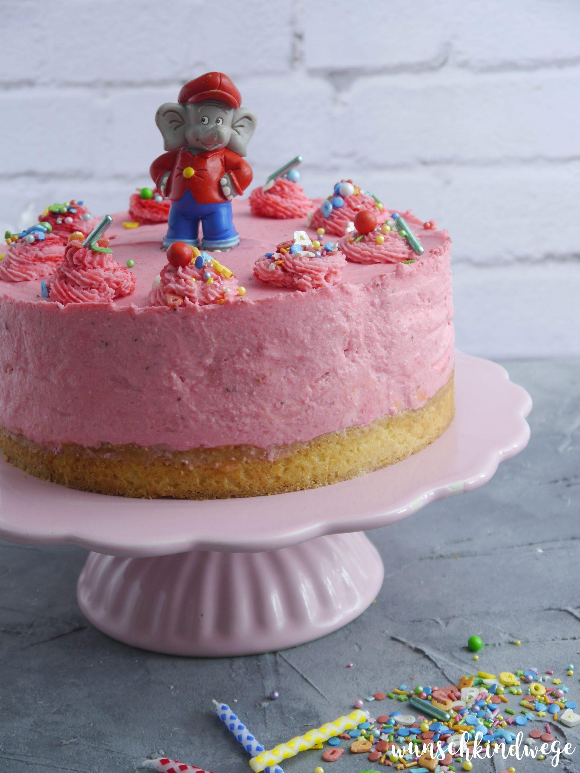 Benjamin Blümchen Torte selbstgebacken