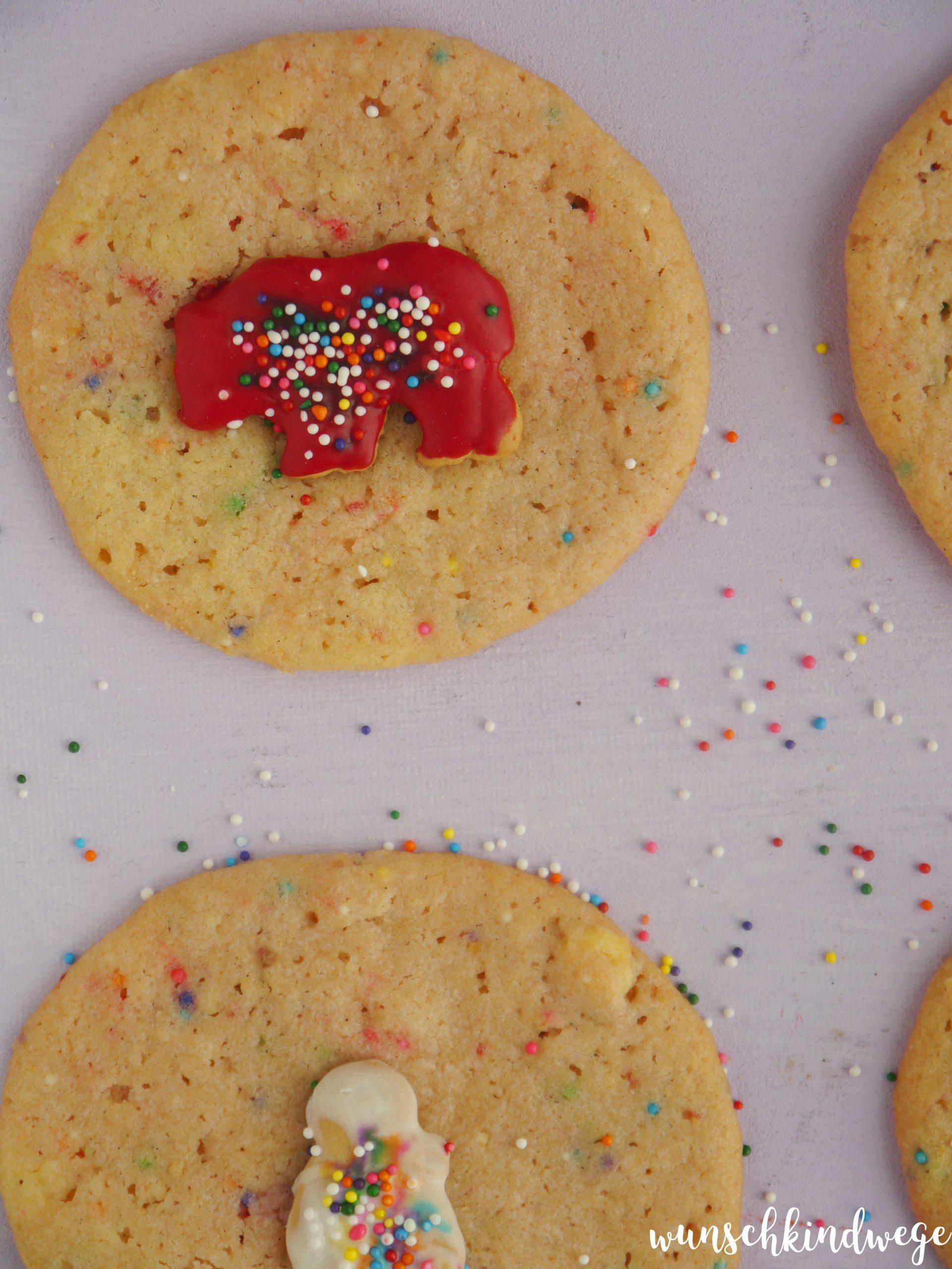 Zootier Cookies Zuckerstreusel