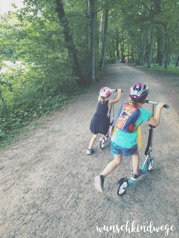 Rollerfahren Park Wochenende