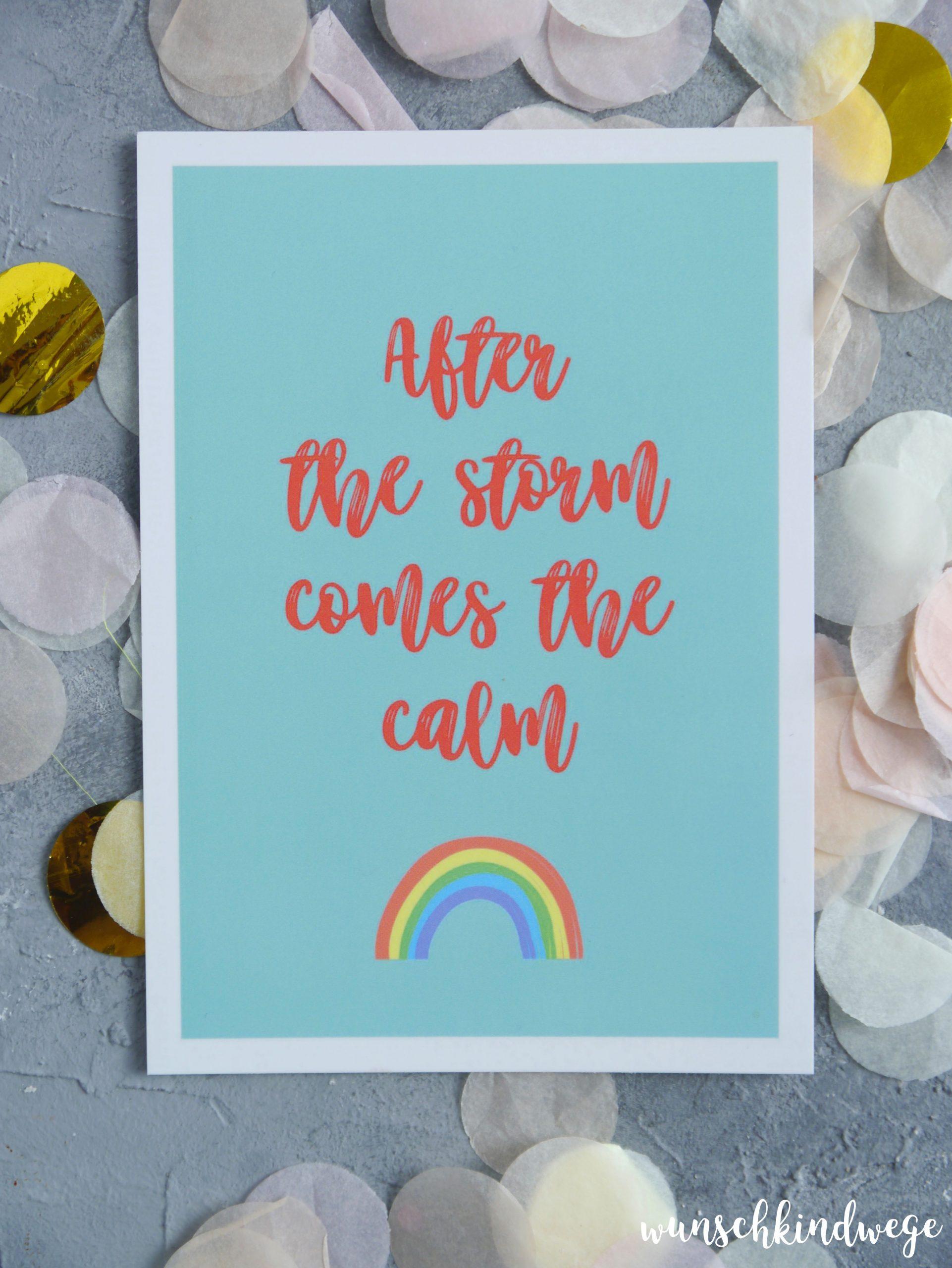 Solidaritäts-Postkarten verschicken Regenbogen