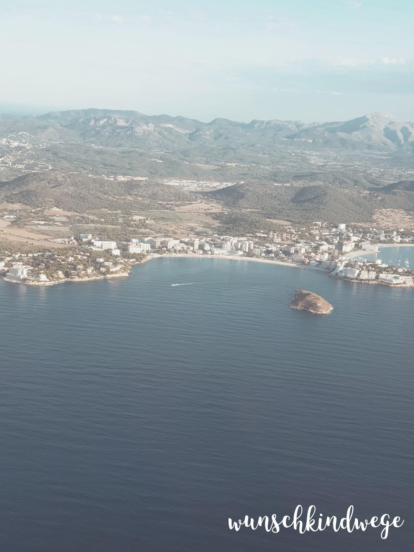 Anflug Palma de Mallorca