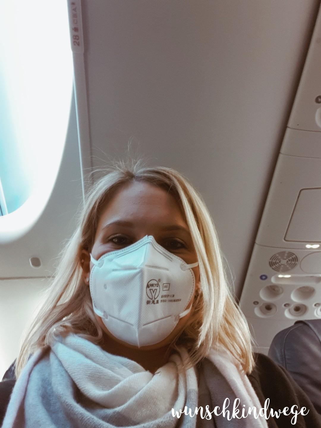 FFP2 Maske Flugzeug