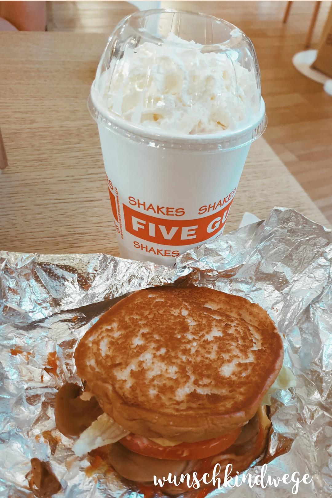 Five Guys Shake und Sandwich