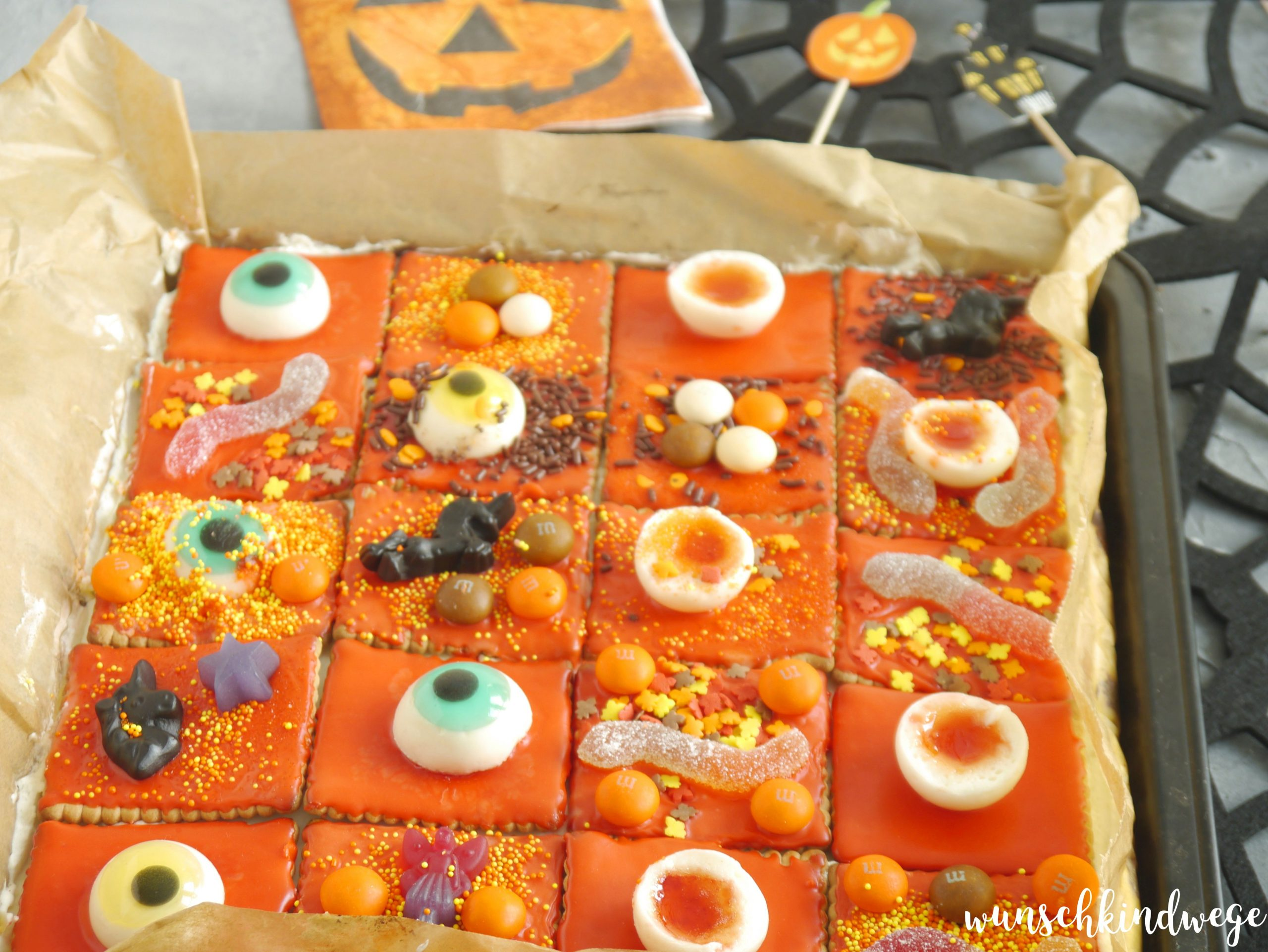 Halloweenkuchen Pudding