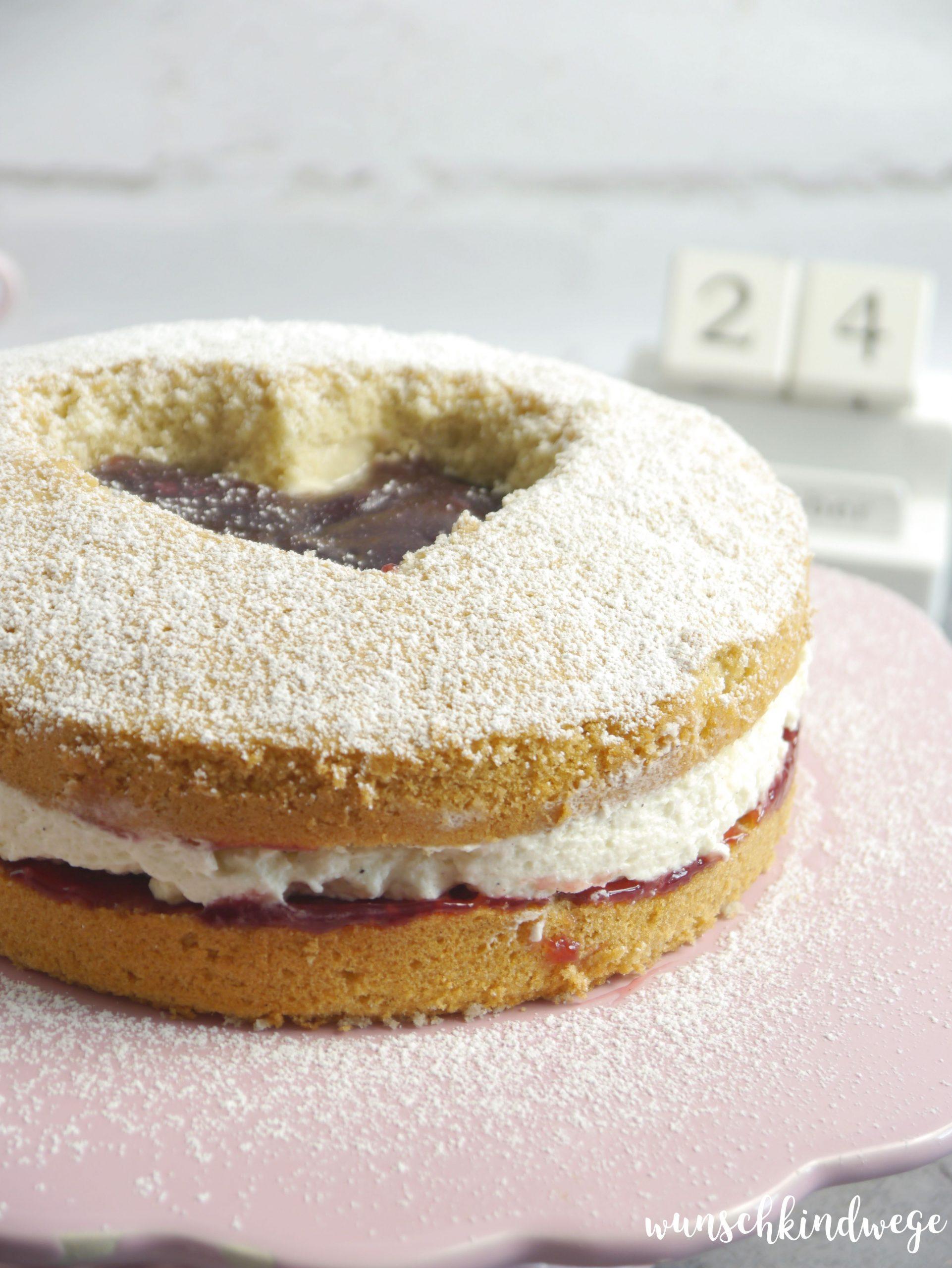 Engelsäuglein Torte Marmelade