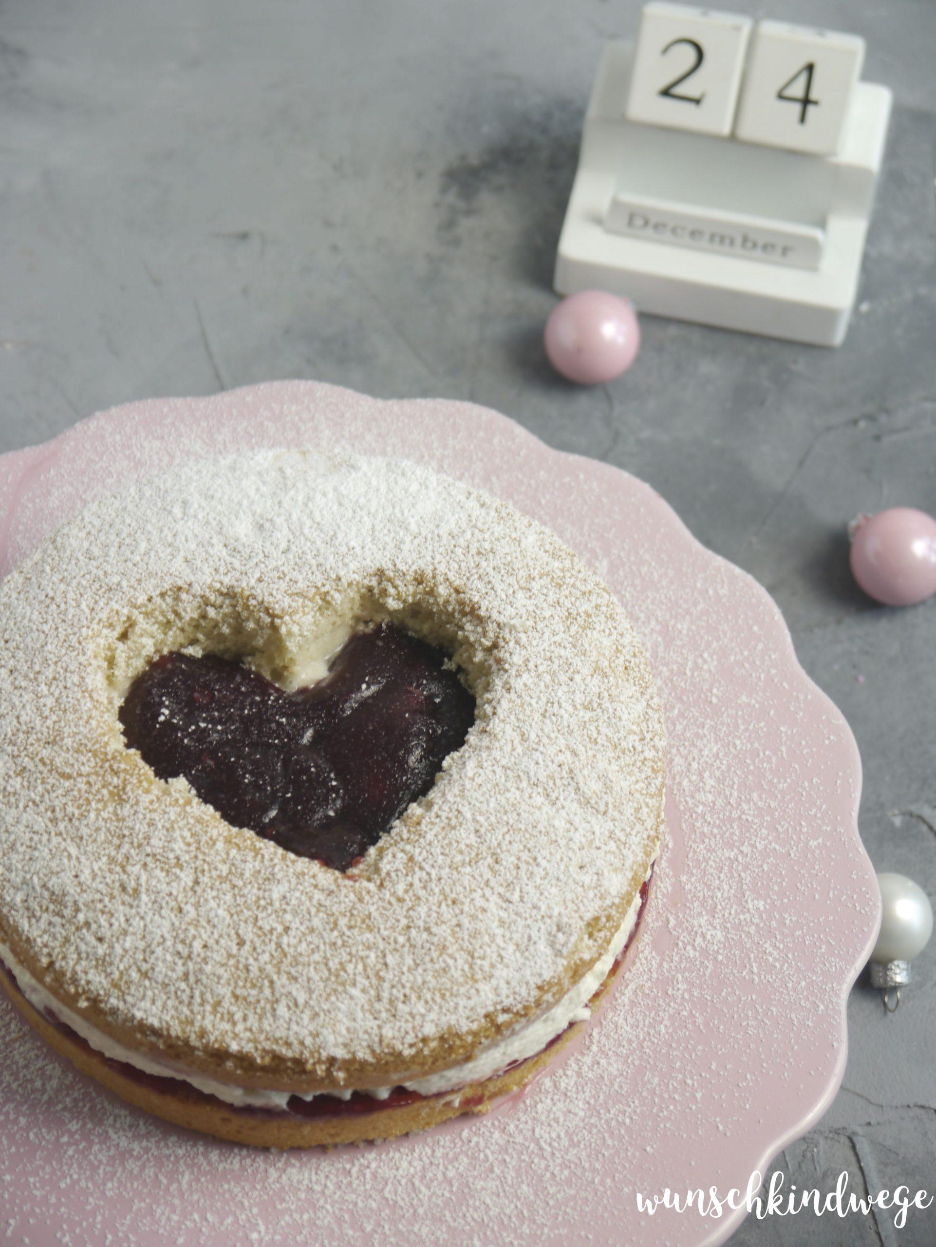 Engelsäuglein Torte Spitzbuben