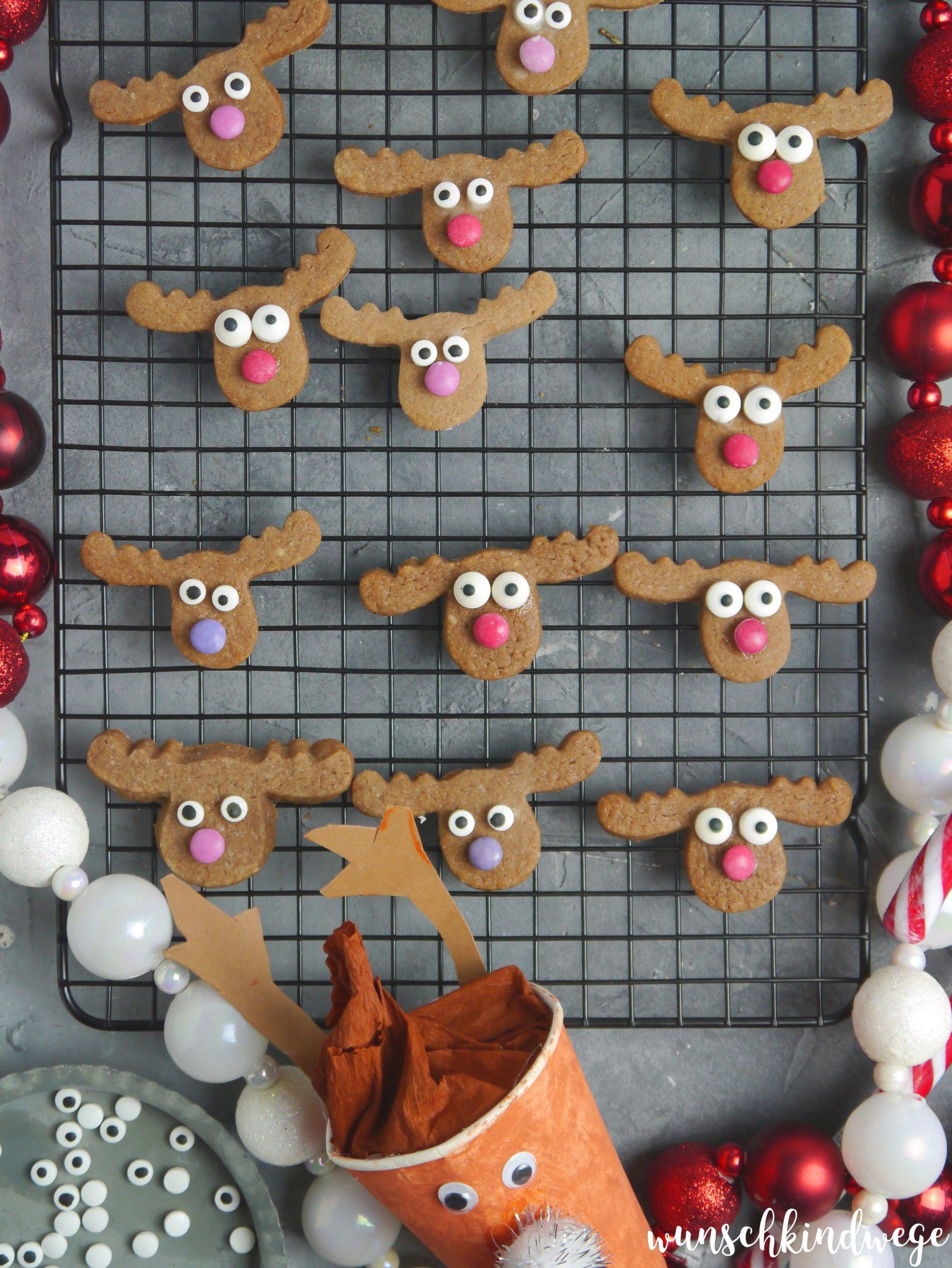 Rentier Kekse Weihnachten