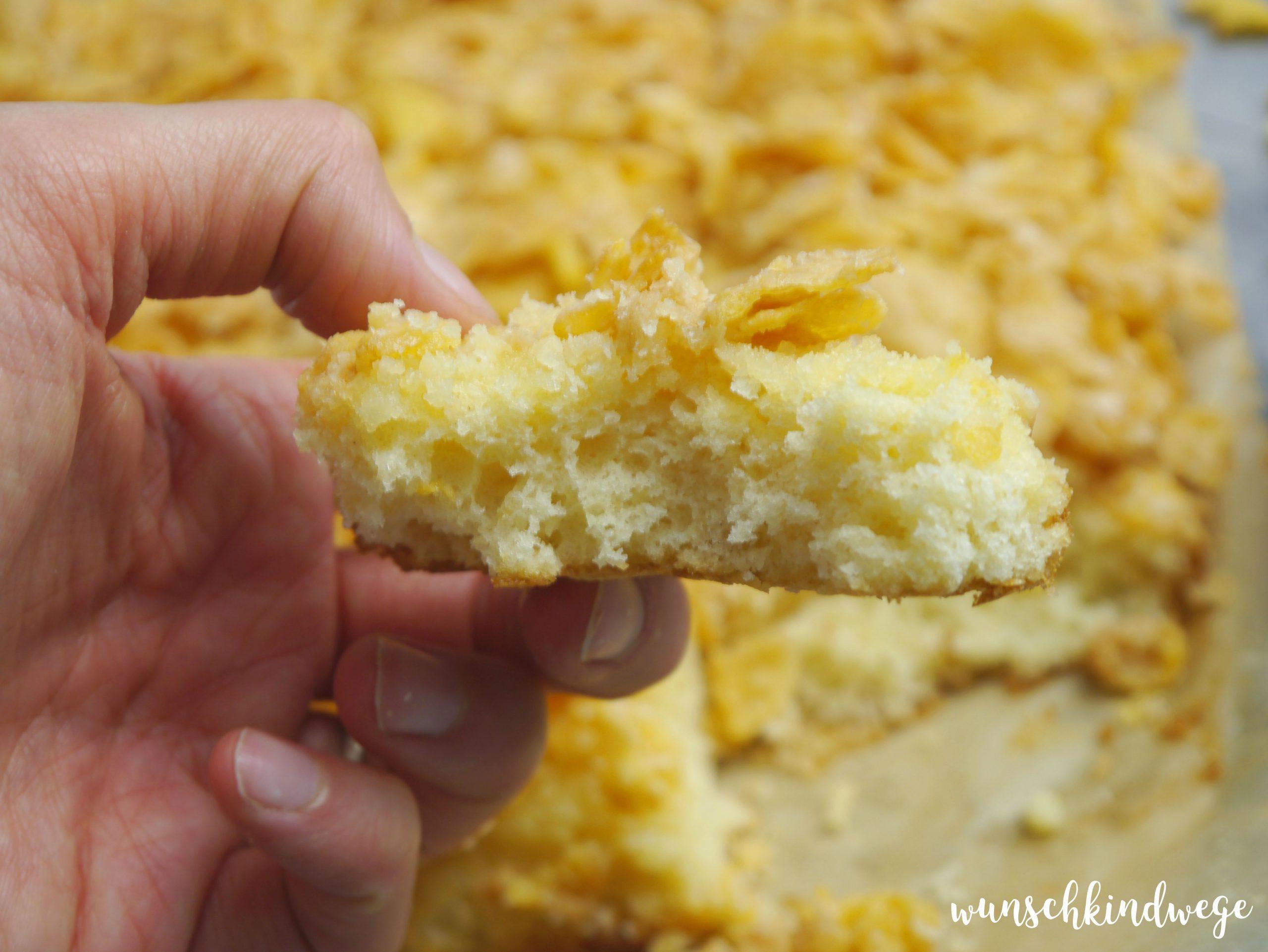 Cornflakeskuchen saftig