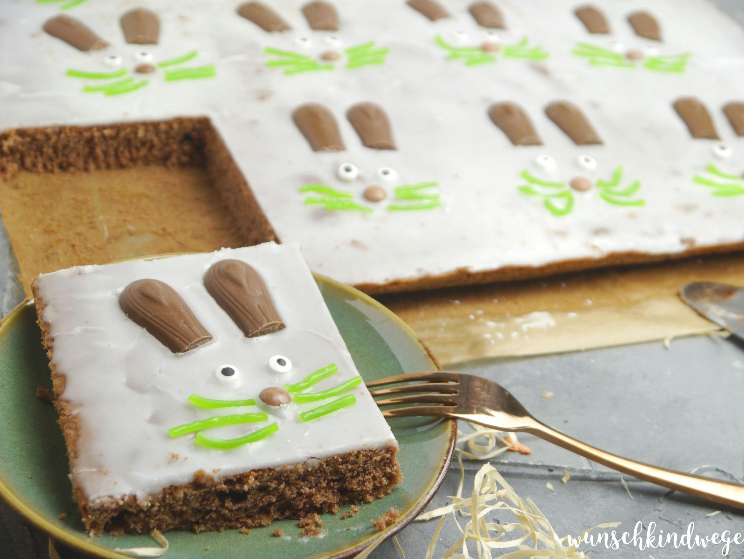Osterhase Kuchen Blechkuchen